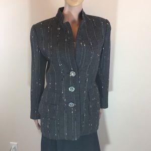 Valentino Boutique grey wool jacket Sz 6/8